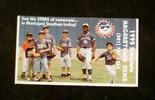 1995 Hagerstown Suns Lite Beer Pocket Game Schedule ex.
