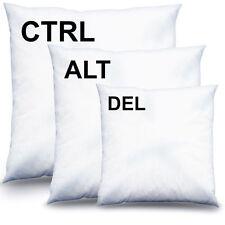 3er Set CTRL + ALT + DEL Decokissen Kissen Kuschelkissen 40x40 Gefüllt