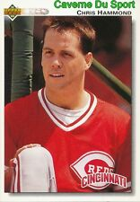 105 CHRIS HAMMOND CINCINNATI REDS  BASEBALL CARD UPPER DECK 1992
