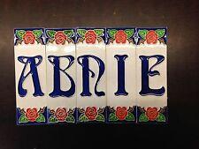 Lettere in Ceramica lavorato e dipinto a mano! made in italy hobby arte