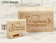 8G Custom LOGO maple wooden USB 2.0 pen thumb Drive Memory Stick + wooden box