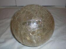 Lampenschirm 20cm Glaskugel Craquele Kugellampe Ersatzschirm Glasschirm 60er 70s