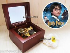 Wooden Windup Sankyo Music Box Harry Potter Hedwig's Soundtrack Hermione Gift
