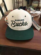 vintage milwaukee bucks Sports Specialities Script Snapback Hat Cap Starter