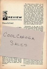 1964 TV GUIDE ARTICLE~BEWITCHED REVIEW~LIZ MONTGOMERY~AGNES MOOREHEAD~WITCH