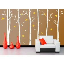 Large Forest Tree Bird Home Art Vinyl Living Room Wall Decor Decal Sticker White