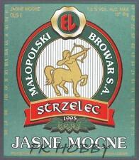Poland Brewery Jędrzejów Strzelec Beer Label Bieretikett Centaur Horse je74.1