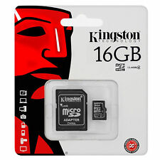 Kingston 16GB Micro SD HC Memory Card For Phone Tablet Digital Camera Navigation