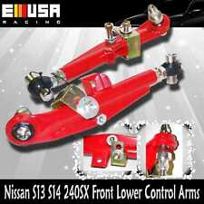 For Nissan 240SX 1995 1996 1997 1998 S14 Front Adjustable Lower Control Arm RED