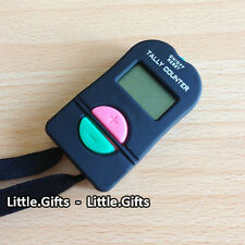 Digital Hand Tally COUNTER ELETTRONICO MANUALE CLICKER GOLF PALESTRA SICUREZZA running -