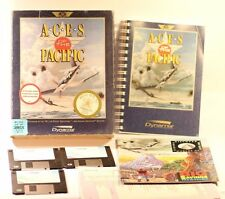 "IBM PC 3 1/2"" DISKS GAME ACES OF THE PACIFIC PC GAME BIG BOX GAME MS-DOS 5.0"