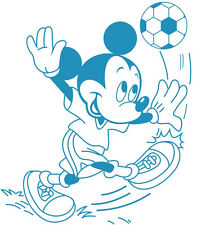 Disney mickey mouse autocollant mural football, bleu, enfant, bébé, garçon, sport, football