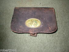 CIVIL WAR AMMO POUCH With Later 1880,s NATIONAL GUARD PLATE.