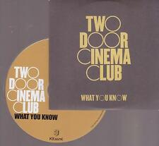 Two Door Cinema Club -  WHAT YOU KNOW - PROMO-CD 2010  - 1  tracks