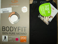 NEW  Icebreaker Bodyfit 200 Base Layer Leggings - UPF 50+ protection W's  Medium
