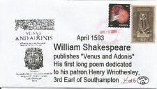 April 23, 1597 Shakespeare  'The Merry Wives of Windsor'  #4 of 5 Cachet Cover