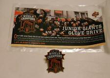 SAN FRANCISCO SF 2012 World Series Champion PIN Junior Giants Glove Drive