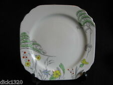 "ART DECO H.M.WILLIAMSON 'HEATHCOTE' HAND-PAINTED CHINA #6968 6.5"" TEAPLATE c30's"