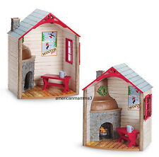 "American Girl MY AG WINTER CHALET for 18"" Dolls Cozy Fireplace Home Cabin NEW"