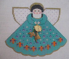 Handpainted Needlepoint Canvas Painted Pony Ind Princess Angel Charm PP-935