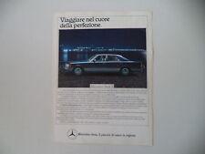 advertising Pubblicità 1984 MERCEDES BENZ SERIE S