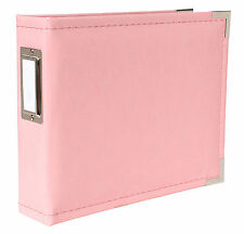 "wrmk PRETTY IN PINK Classic Leather 6""x6"" ALBUM scrapbooking (10) INSERTS"