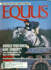 1987 Equus Magazine: Tufts Research Offers Cure for Cribbing/Foaling Alarms