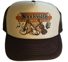 Nashville Tennessee Guitar Country Music  Snapback Mesh Trucker Hat Cap  BT