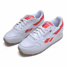 Reebok Womens Classic Leather Walking Shoes White Sneakers Tennis Shoes Sh0008p