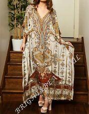 Kaftans Embellishedl 16/22 loose fit+long silk crepe Ivory Matador special offer