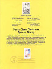 #8436 20c Christmas Santa Claus Stamp - Scott #2108 USPS Souvenir Page