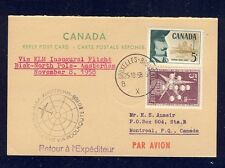 51484) KLM Polar FF Biak - Amsterdam 8.11.58, Canada reply card via Brüssel