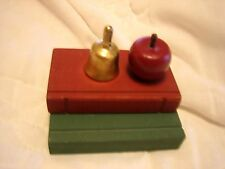 Decorative Books to display Country Home Decor..Books, School  Bell and Apple