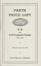 Ford Model A Chassis Parts Book 1928-1931 - A, AA, B, V8 and 4-cylinder Cars