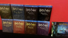 HARRY POTTER 1-8 COMPLETE COLLECTION ALL Bluray Steelbook + 3D Lenticular Magnet