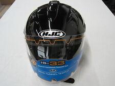 HJC IS 33 STYLE HELMET (SUL954-605) OPEN FACE BLACK, SIZE XL.