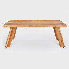 Esstisch Wildeiche massiv 200 x 100 cm Designer geölt Schwerin Natur Eiche Tisch