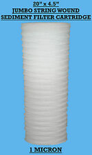 "20""x4.5"" Jumbo Wound Sediment Filter Cartridge 1Mic  Well Water ,WVO Bio-diesel"