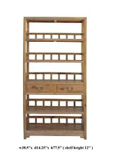 Chinese Camphor Wood Simple Display Curio Bookcase Cabinet vs937
