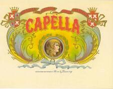 Capella original vintage unused  cigar box label