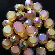 10pcs 10mm Swarovski  Flat drum Crystal beads C Gold-rose