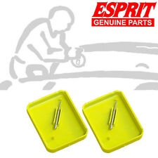 2 x ESPRIT WINDSCREEN REPAIR CARBIDE DRILL BUR 1.6mm DIA TIP FG2 YELLOW