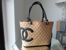 CHANEL HANDBAG CAMBON LIGNE COCO BEIGE QUILTED LARGE SHOULDER BAG TOTE HARRODS