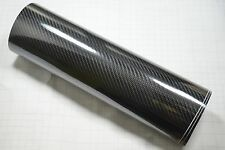 8DM Ultra Gloss Shining BLACK【1520mm x 300mm】Carbon Fibre Vinyl Sticker Wrap