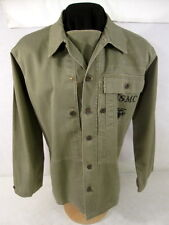 WWII USMC P1944 HBT Herring Bone Twill Combat Jacket Shirt Uniform Size 38 MINT