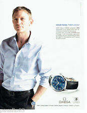 PUBLICITE ADVERTISING 066  2011   Omega montre Hour vision & Daniel Craig Orbis