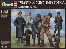 KIT REVELL 1:48  7 FIGURE NON COLORATE PILOTS & GROUND CREW  WWII     ART 02621