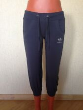 ADIDAS Smoked/Dark Gray Cotton CAPRI (Athletic Pants) Size L (see Description)