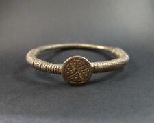 Archaic heavy silver Bedouin decorated bracelet 68 grams