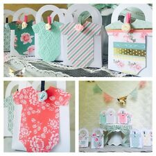 24 Vintage Shabby Chic Onesie Thank You favor boxes for Baby Shower Super Cute!